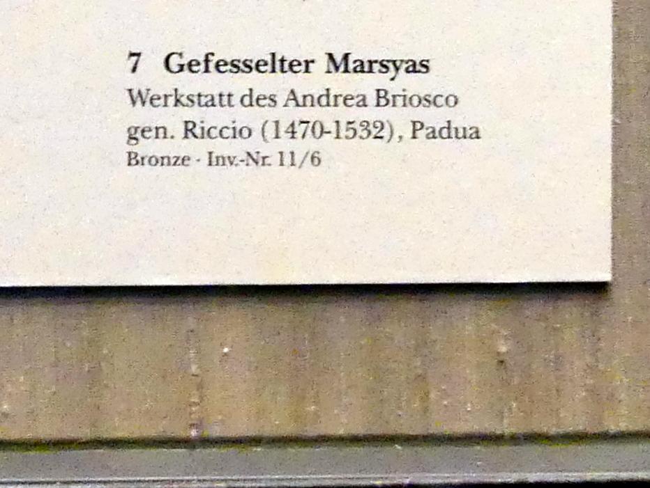 Andrea Briosco (Werkstatt): Gefesselter Marsyas, Undatiert