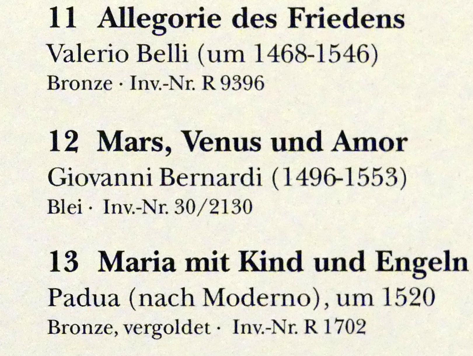 Giovanni Bernardi: Mars, Venus und Amor, Undatiert, Bild 2/2