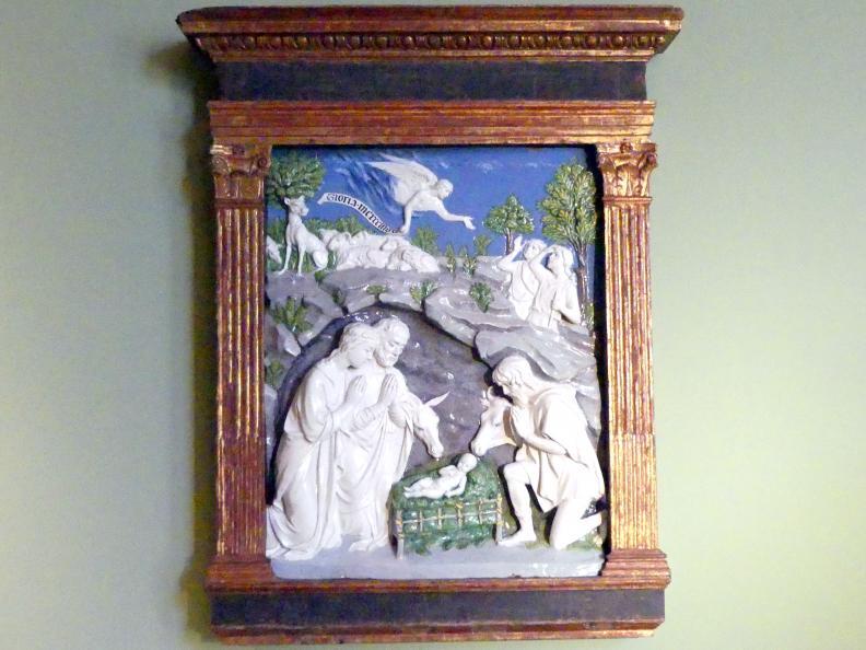 Andrea della Robbia: Verkündigung an die Hirten und Anbetung der Hirten, Ende 15. Jhd.