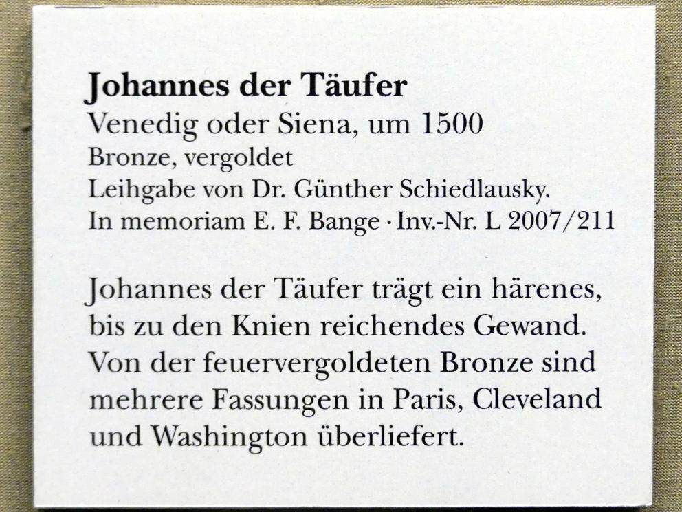 Johannes der Täufer, um 1500, Bild 2/2