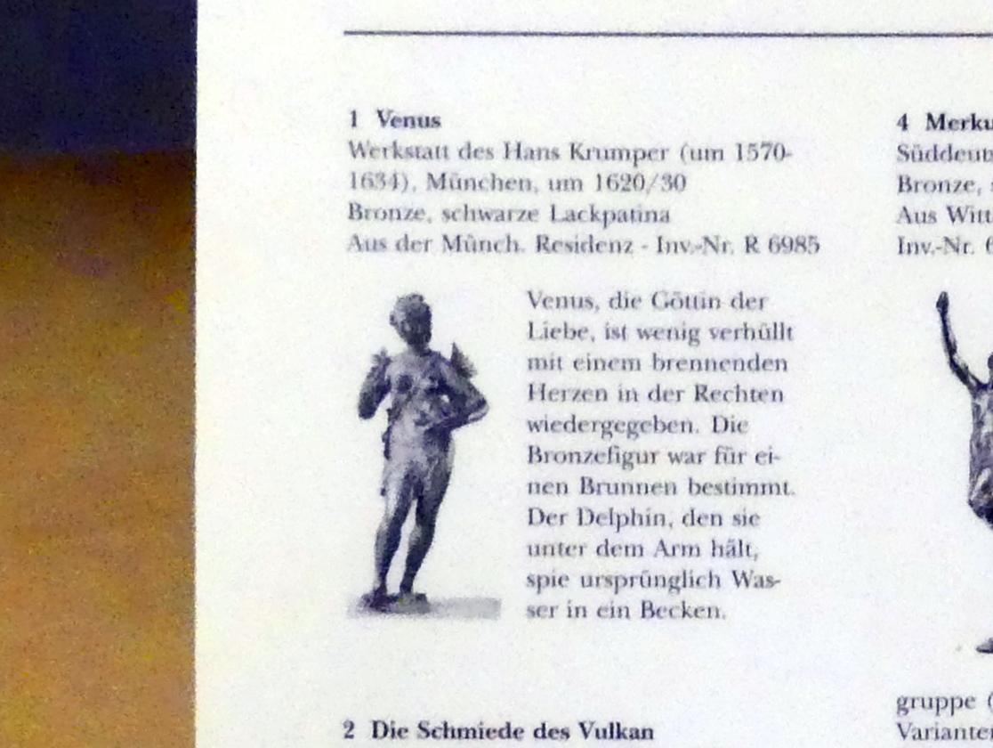 Hans Krumpper (Werkstatt): Venus, Um 1620 - 1630