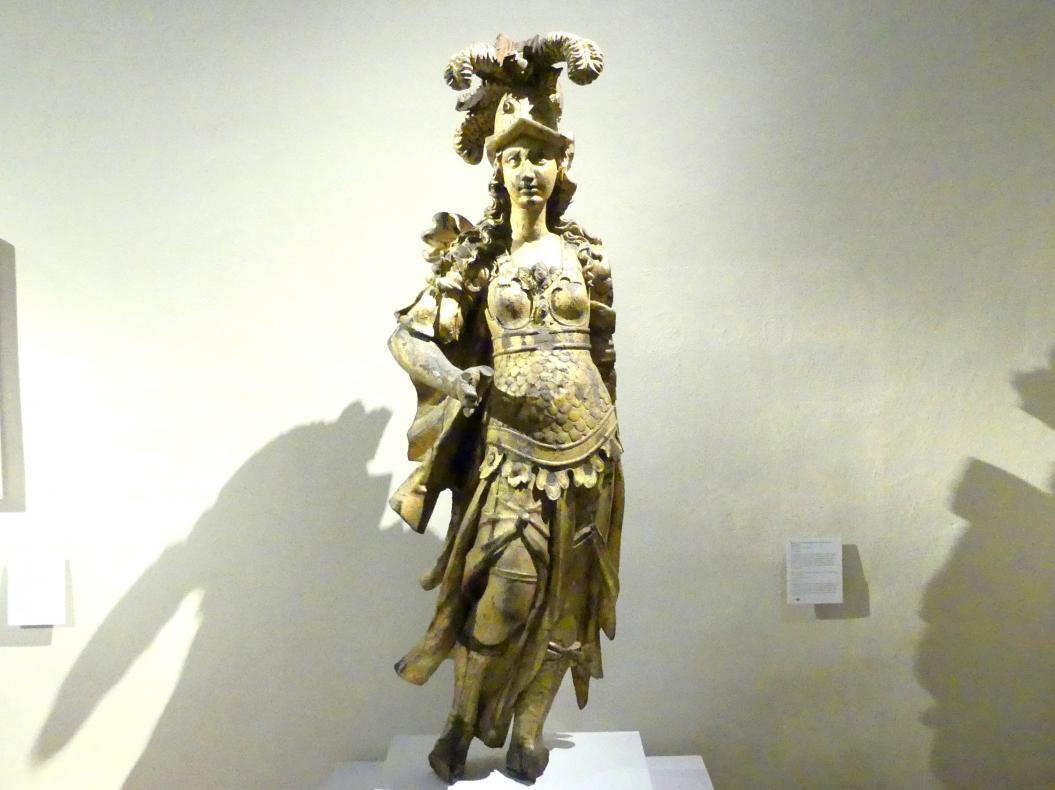 """Balthasar Ableithner: Minerva vom kurfürstlich-bayerischen Prunkschiff """"Bucentaur"""", 1663"""