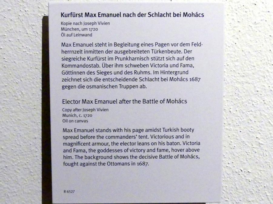 Joseph Vivien (Kopie): Kurfürst Max Emanuel nach der Schlacht bei Mohács, um 1720, Bild 2/2