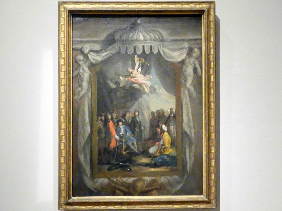 Jacopo Amigoni: Kurfürst Max Emanuel empfängt in Belgrad die türkische Gesandtschaft, 1723