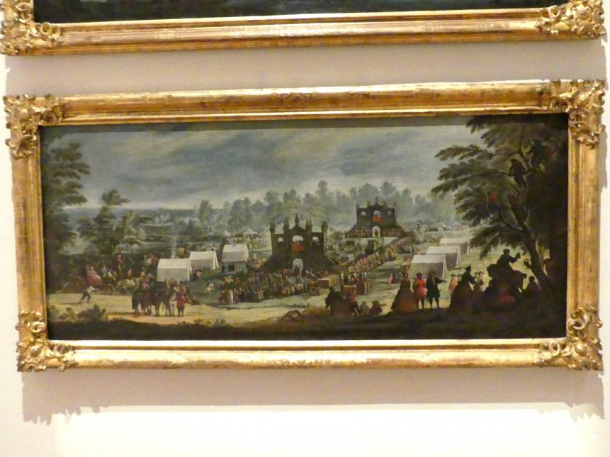 Ignatius Bidermann: Hirschenstechen bei Allach, Um 1727