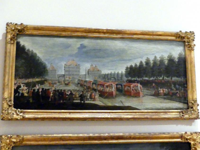 Ignatius Bidermann: Festlichkeiten im Schlossgarten von Nymphenburg, Um 1727