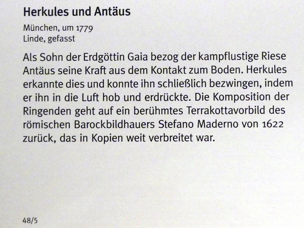 Herkules und Antäus, um 1779, Bild 2/3