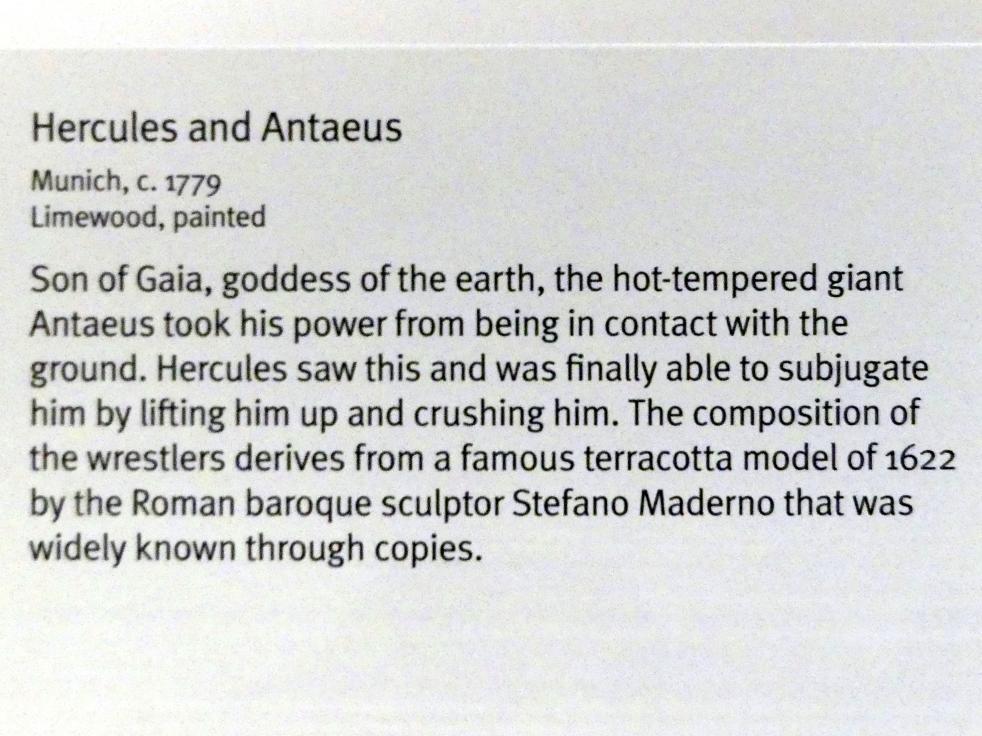 Herkules und Antäus, um 1779, Bild 3/3