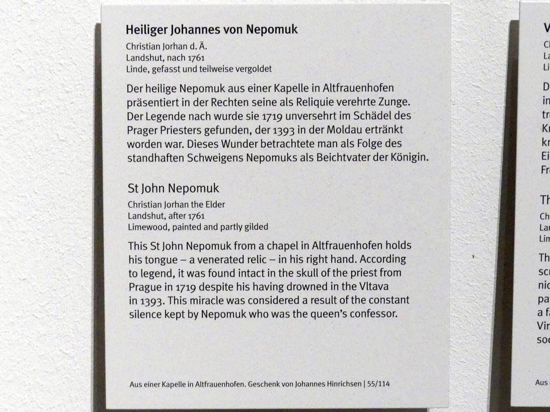 Christian Jorhan der Ältere: Heiliger Johannes von Nepomuk, nach 1761, Bild 4/4
