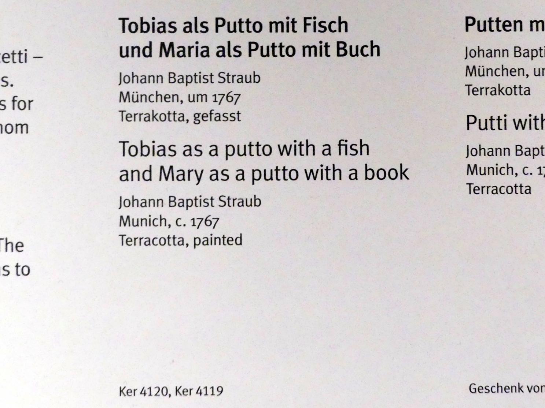 Johann Baptist Straub: Tobias als Putto mit Fisch, um 1767, Bild 3/5