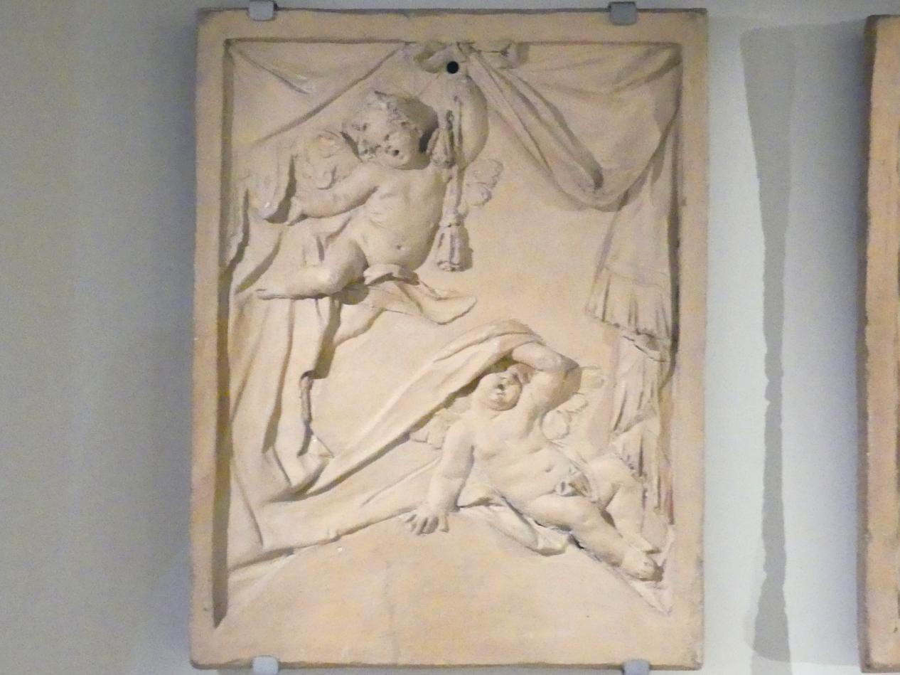 Johann Baptist Straub: Putten mit Vorhangdraperien, Um 1767