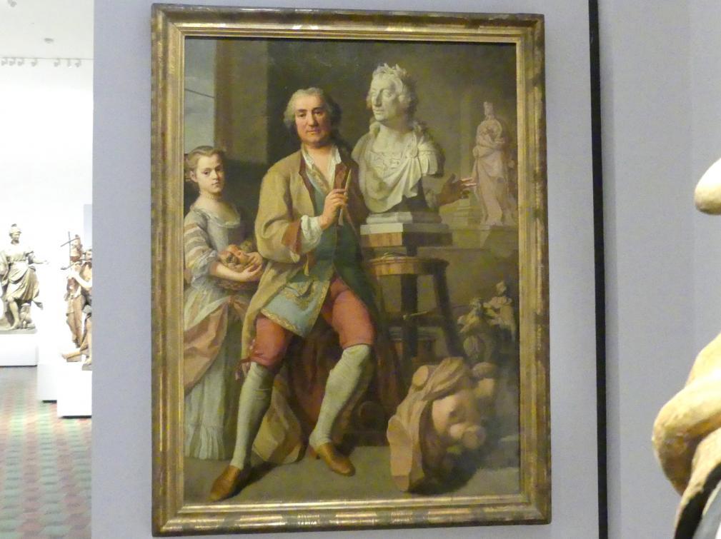 Balthasar Augustin Albrecht: Johann Baptist Straub im Atelier, 1763