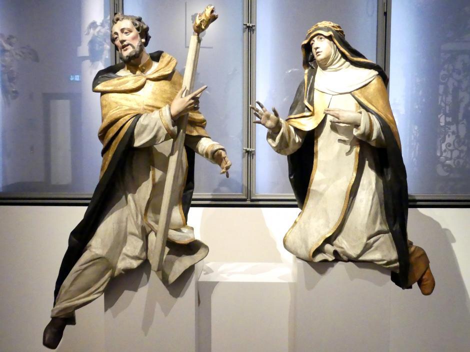 Johann Baptist Straub: Die heiligen Dominikus und Katharina von Siena, um 1765 - 1769