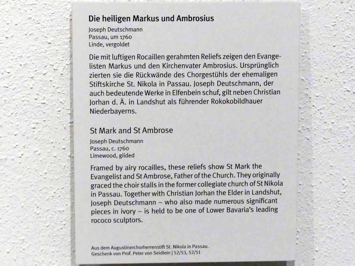 Joseph Deutschmann: Evangelist Markus, um 1760, Bild 2/2