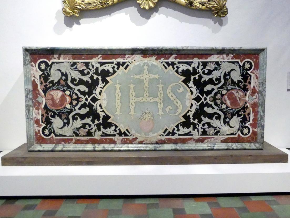 Dominikus Zimmermann: Scagliola-Antependium, um 1720