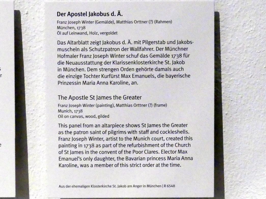 Franz Joseph Winter: Der Apostel Jakobus d. Ä., 1738, Bild 2/2