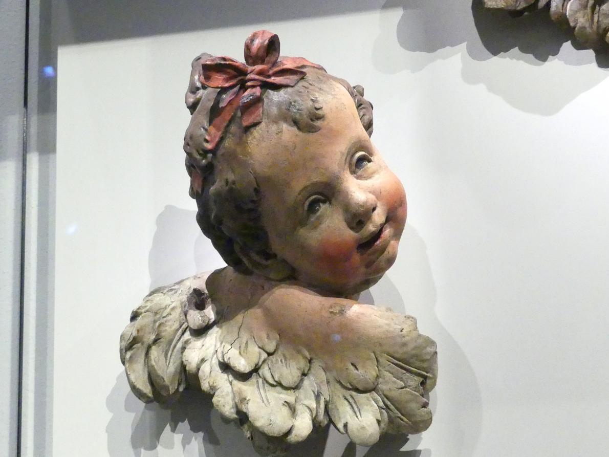 Ignaz Günther: Geflügelter Puttenkopf, um 1755 - 1770, Bild 2/3