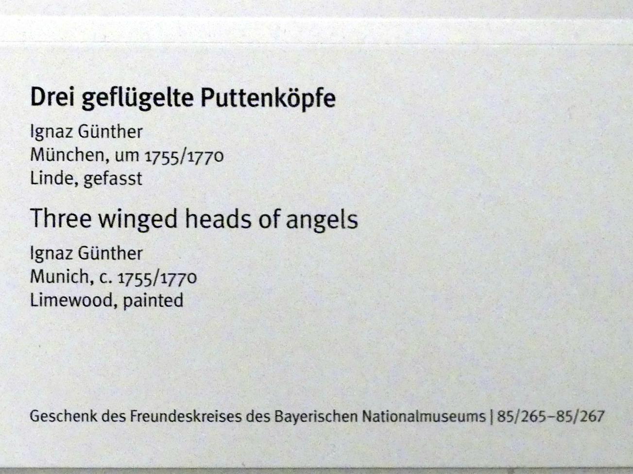 Ignaz Günther: Geflügelter Puttenkopf, um 1755 - 1770, Bild 3/3