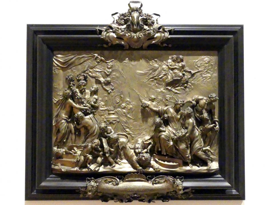 Massimiliano Soldani (Massimiliano Soldani Benzi): Die vier Jahreszeiten: Allegorie des Gartenbaus (Frühlingsfest der Flora), 1711