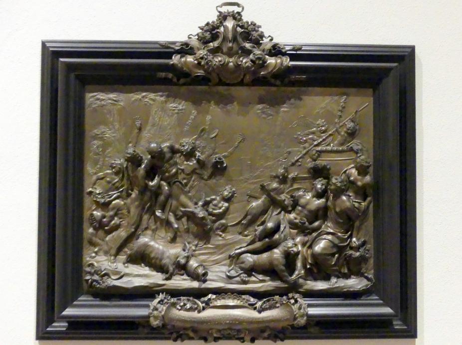 Massimiliano Soldani (Massimiliano Soldani Benzi): Die vier Jahreszeiten: Allegorie des Weinbaus (Triumph des Bacchus), 1708