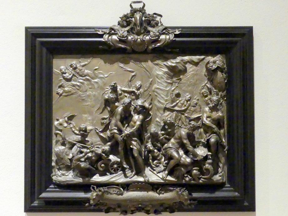 Massimiliano Soldani (Massimiliano Soldani Benzi): Die vier Jahreszeiten: Allegorie der Kunst (Mars und Venus in der Schmiede des Vulkan), 1711