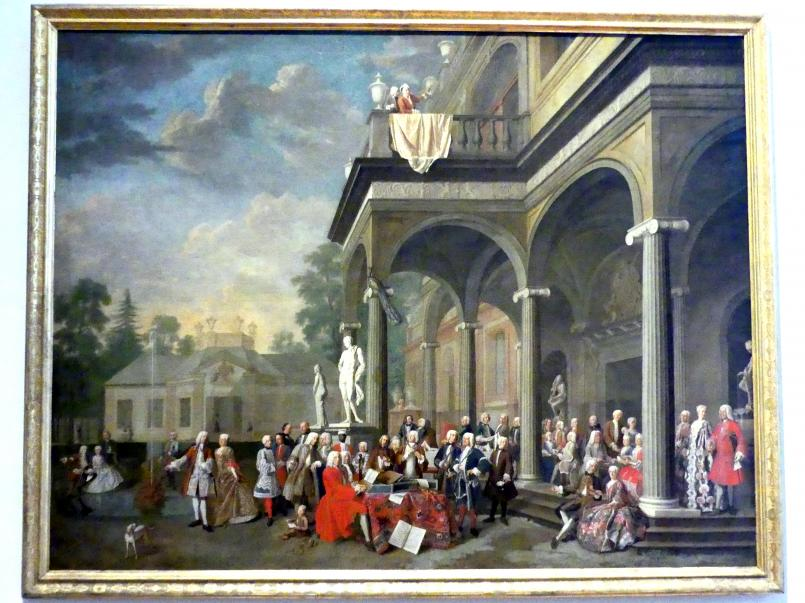 Peter Jakob Horemans: Hofkonzert in Schloss Ismaning, 1733, Bild 1/2