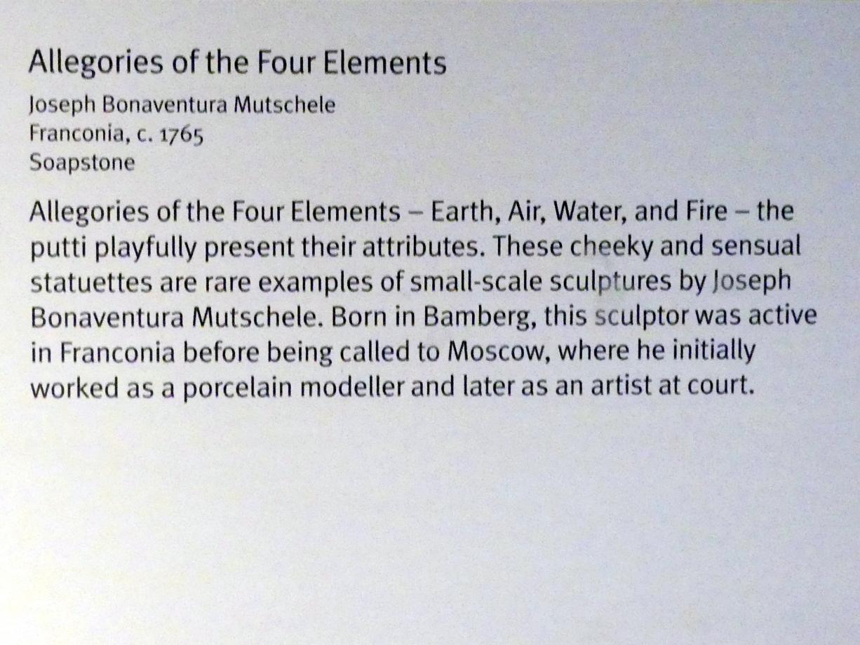 Joseph Bonaventura Mutschele: Allegorien der vier Elemente: Feuer, um 1765, Bild 3/3