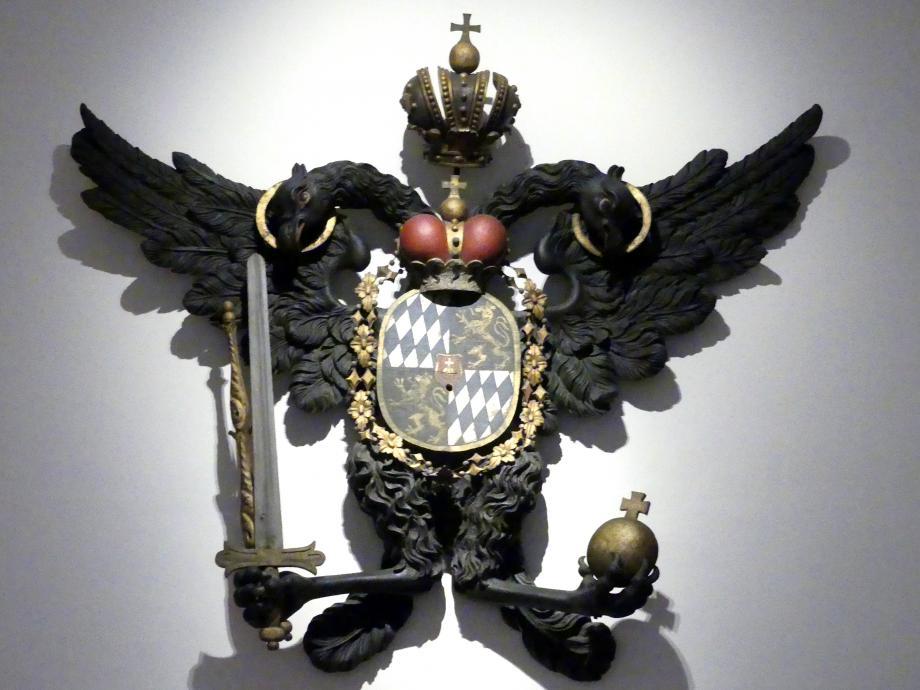 Reichsadler mit Wappen Kaiser Karls VII., Vor 1742
