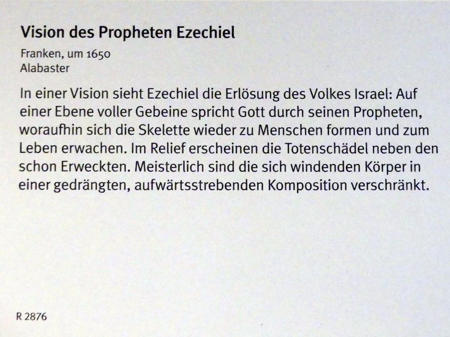 Vision des Propheten Ezechiel, Um 1650