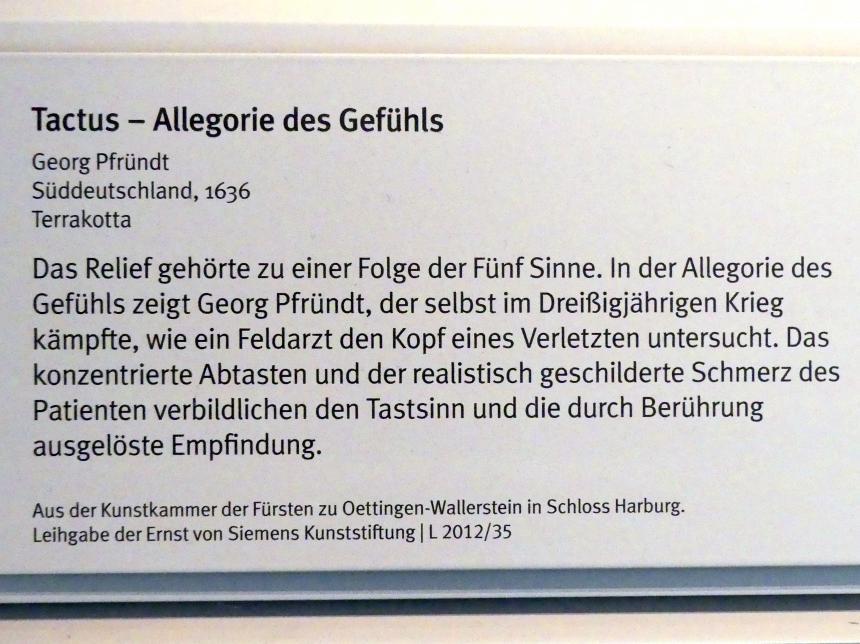 Georg Pfründt: Tactus - Allegorie des Gefühls, 1636, Bild 2/3