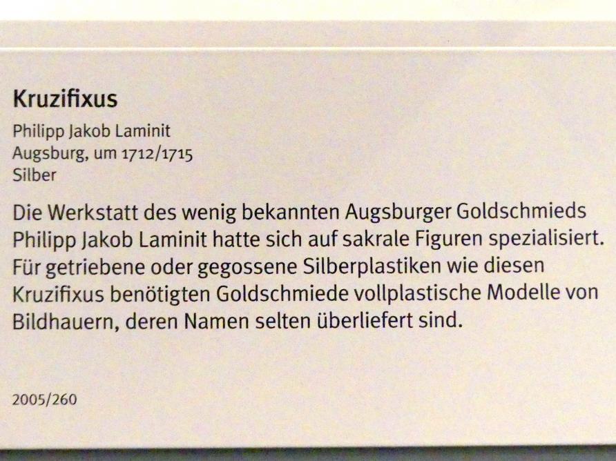 Philipp Jakob Laminit: Kruzifixus, um 1712 - 1715, Bild 4/5