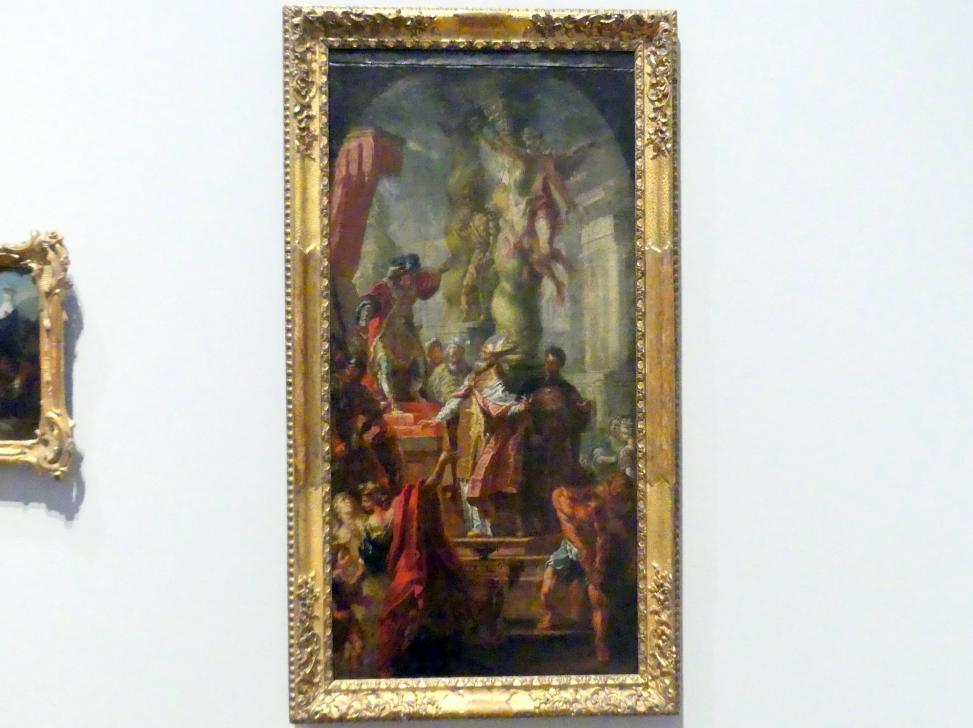 Johann Nepomuk della Croce: Der heilige Maximilian von Lorch vor dem römischen Statthalter Eulasius, Um 1772