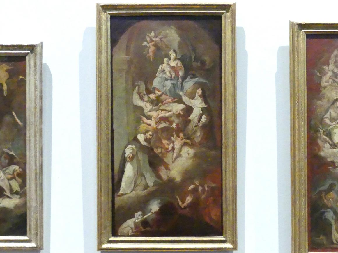 Franz Joseph Spiegler: Übergabe des Rosenkranzes an die Heiligen Katharina von Siena und Dominikus, um 1742 - 1743
