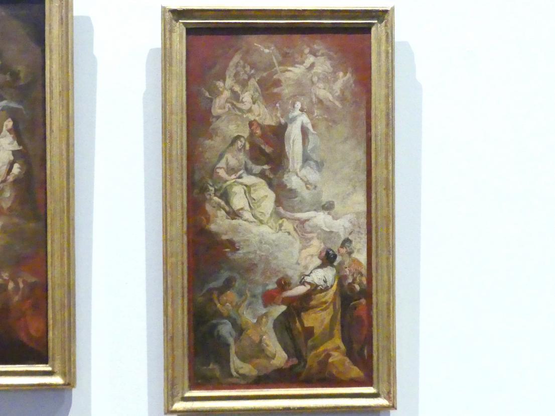 Franz Joseph Spiegler: Die vier Erdteile huldigen der Unbefleckten Empfängnis Mariens, 1742