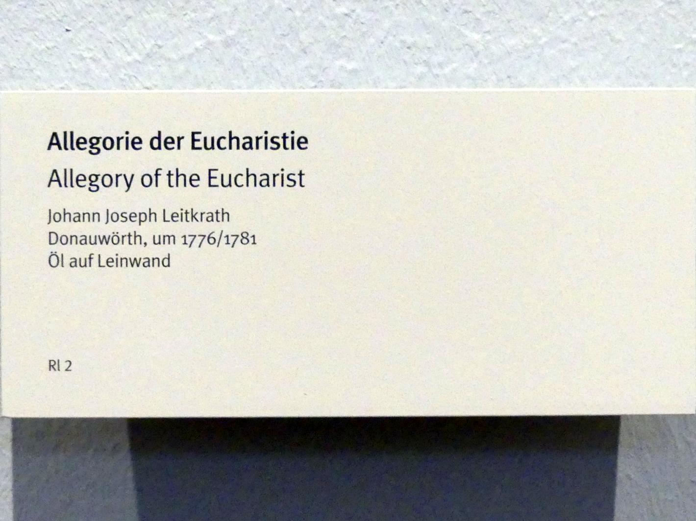 Johann Joseph Leitkrath: Allegorie der Eucharistie, Um 1776 - 1781