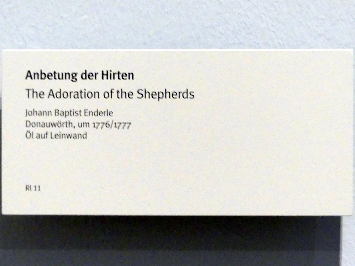 Johann Baptist Enderle: Anbetung der Hirten, um 1776 - 1777, Bild 2/2