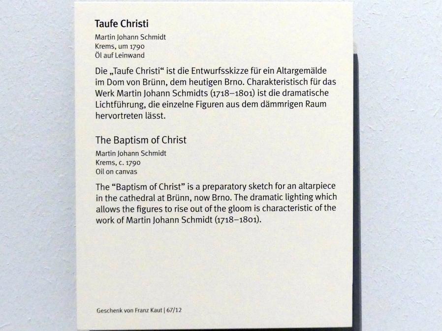 Martin Johann Schmidt (Kremser Schmidt): Taufe Christi, um 1790, Bild 2/2