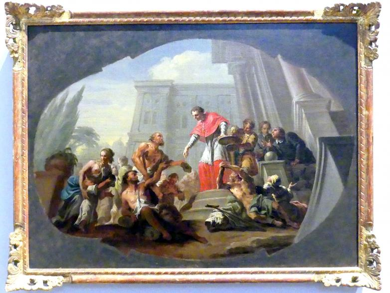 Martin Knoller: Der heilige Karl Borromäus verteilt Almosen, Um 1765 - 1766