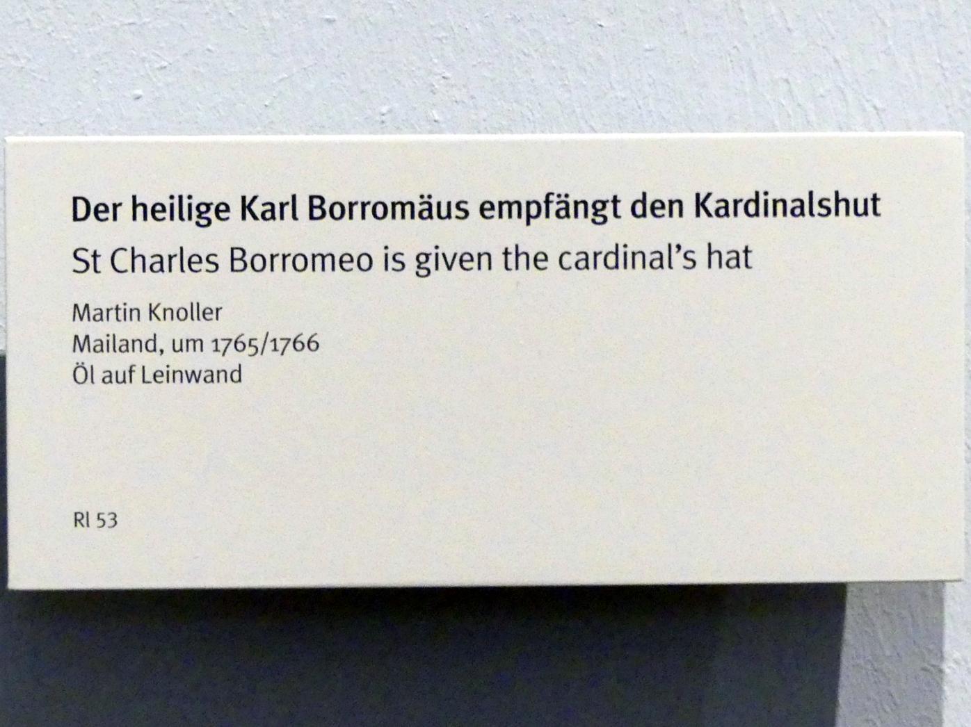 Martin Knoller: Der heilige Karl Borromäus empfängt den Kardinalshut, um 1765 - 1766, Bild 2/2