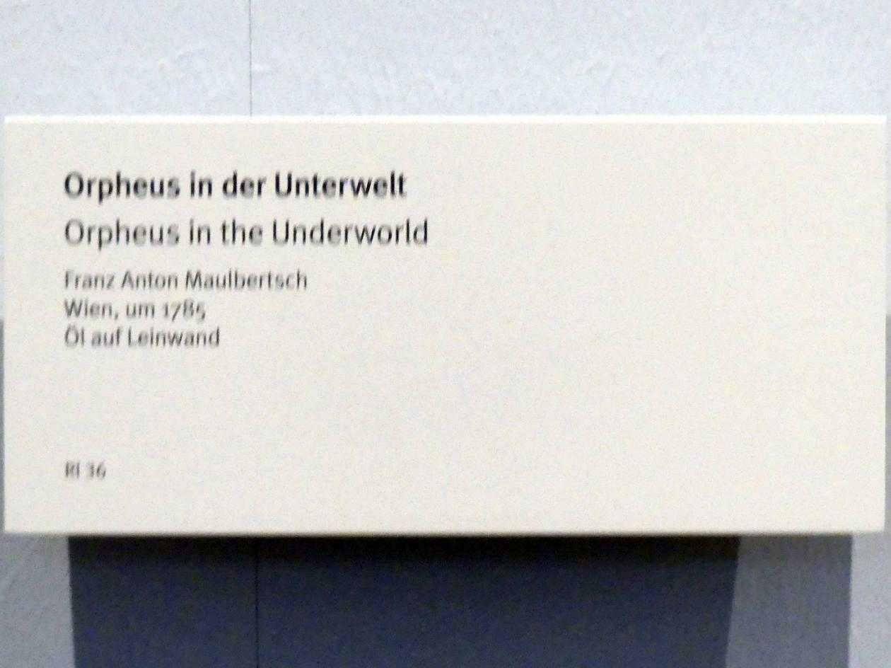 Franz Anton Maulbertsch: Orpheus in der Unterwelt, um 1785, Bild 2/2