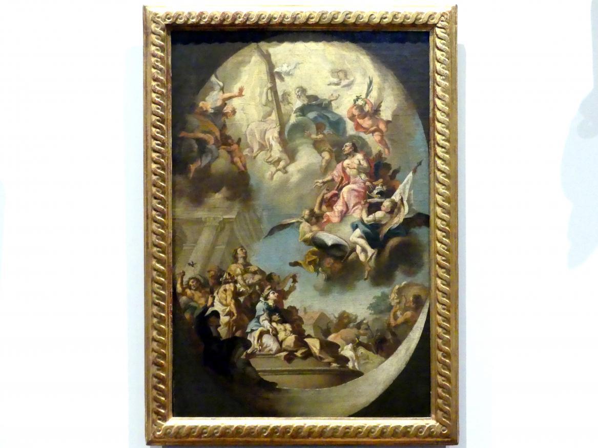 Johann Georg Wolcker: Heiliger Sebastian als Fürbitter der Kranken und als Viehpatron, 1738