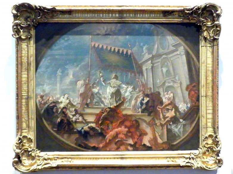 Joseph Ignaz Appiani (Giuseppe Appiani): Triumph des heiligen Norbert über den Irrlehrer Tanchelm, 1750