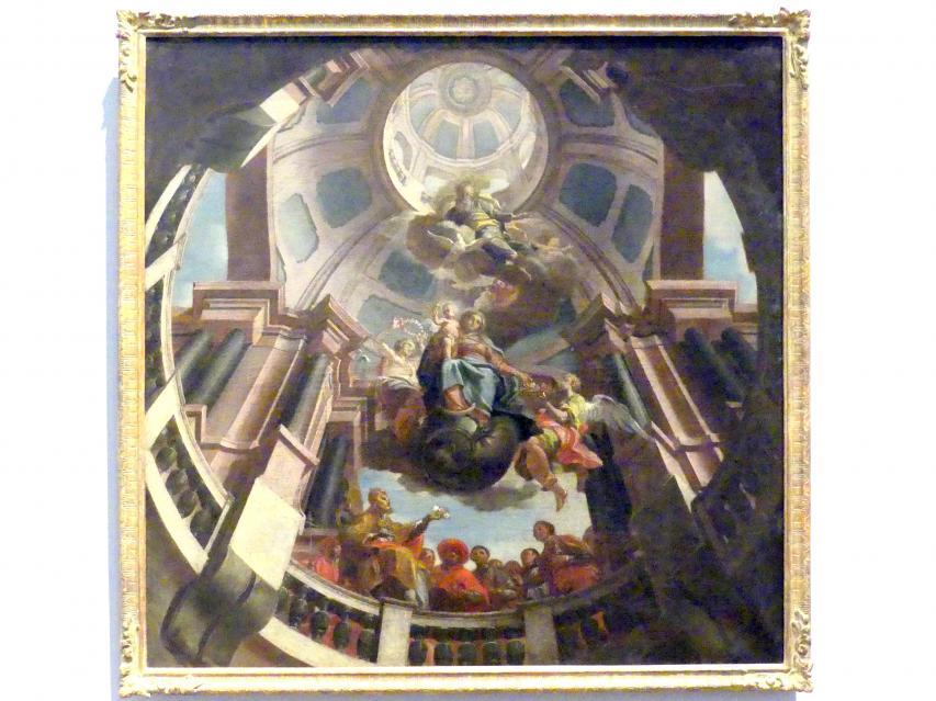 Anton Zoller: Die Verehrung der Madonna als Rosenkranzkönigin, um 1755 - 1757