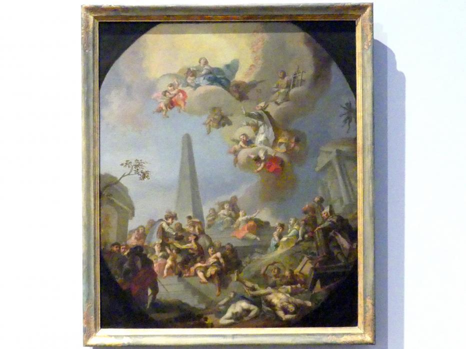 Fürbitte der heiligen Laurentius und Nikolaus vor Maria, Mitte 18. Jhd.