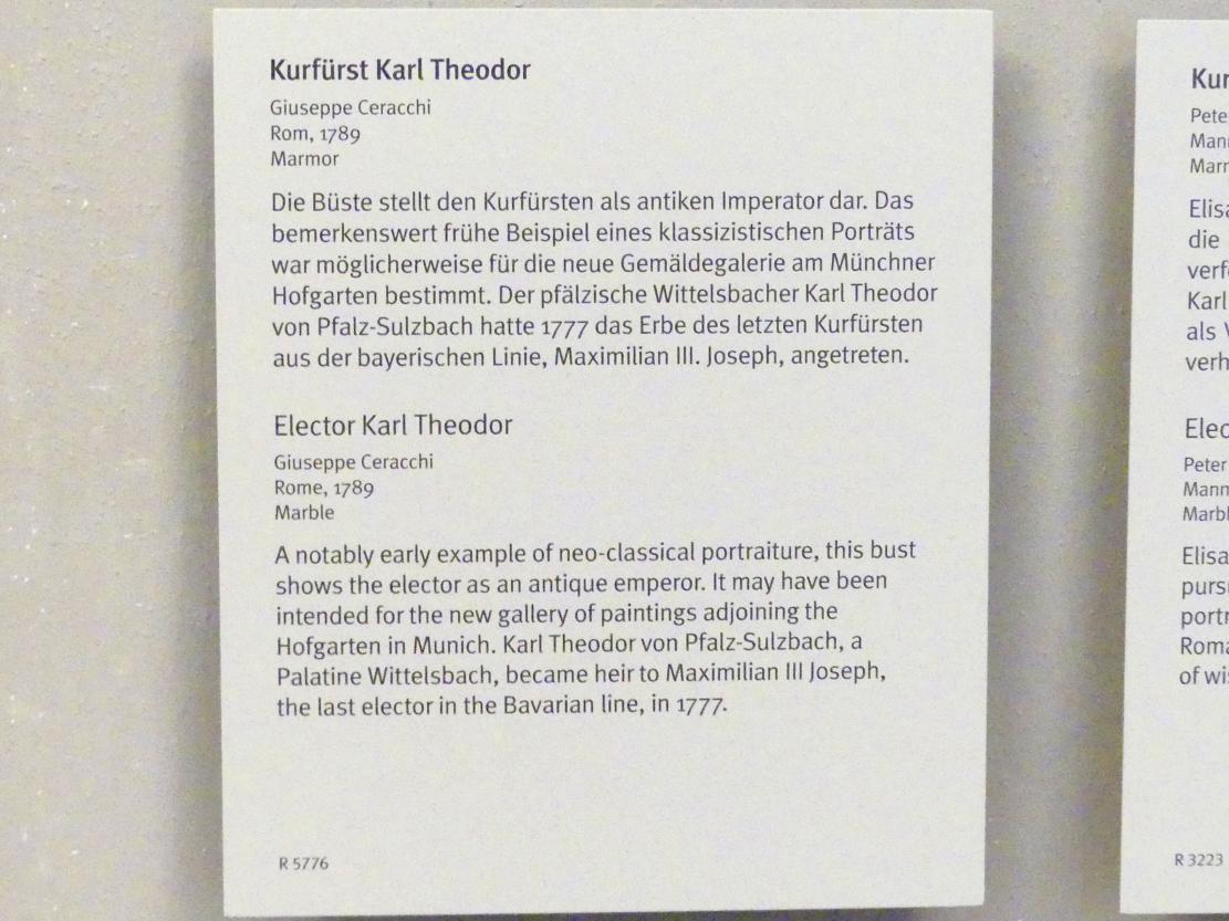 Giuseppe Ceracchi: Kurfürst Karl Theodor, 1789, Bild 4/4