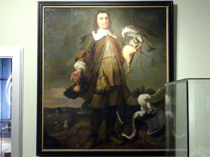 Johannes Spilberg: Falkner mit zwei Gerfalken, Um 1670 - 1680
