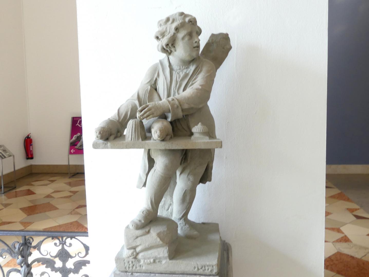 Johann Peter Wagner: Knabe mit Meerschweinchen, um 1775, Bild 2/3