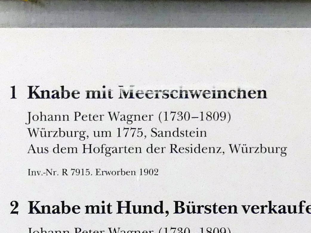 Johann Peter Wagner: Knabe mit Meerschweinchen, um 1775, Bild 3/3