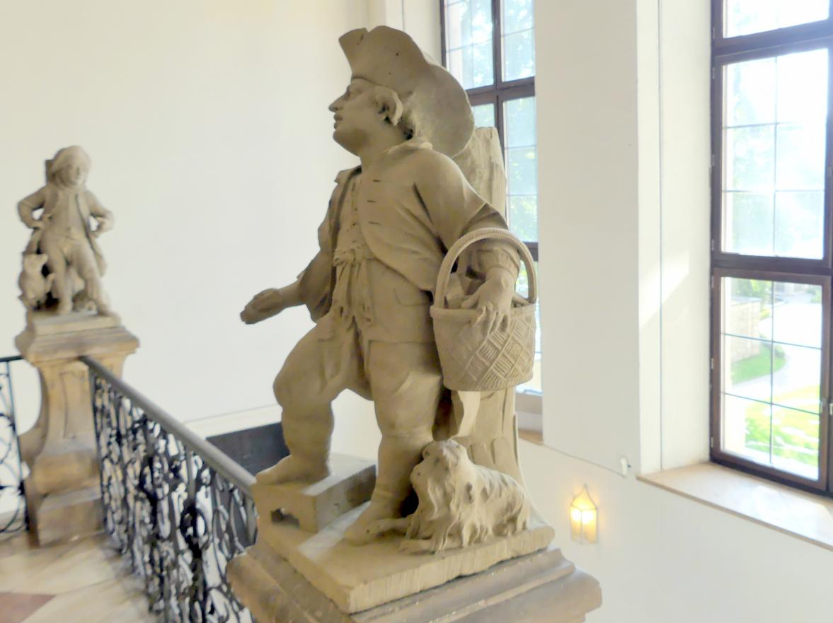 Johann Peter Wagner: Knabe mit Hund, Bürsten verkaufend, um 1775, Bild 3/4