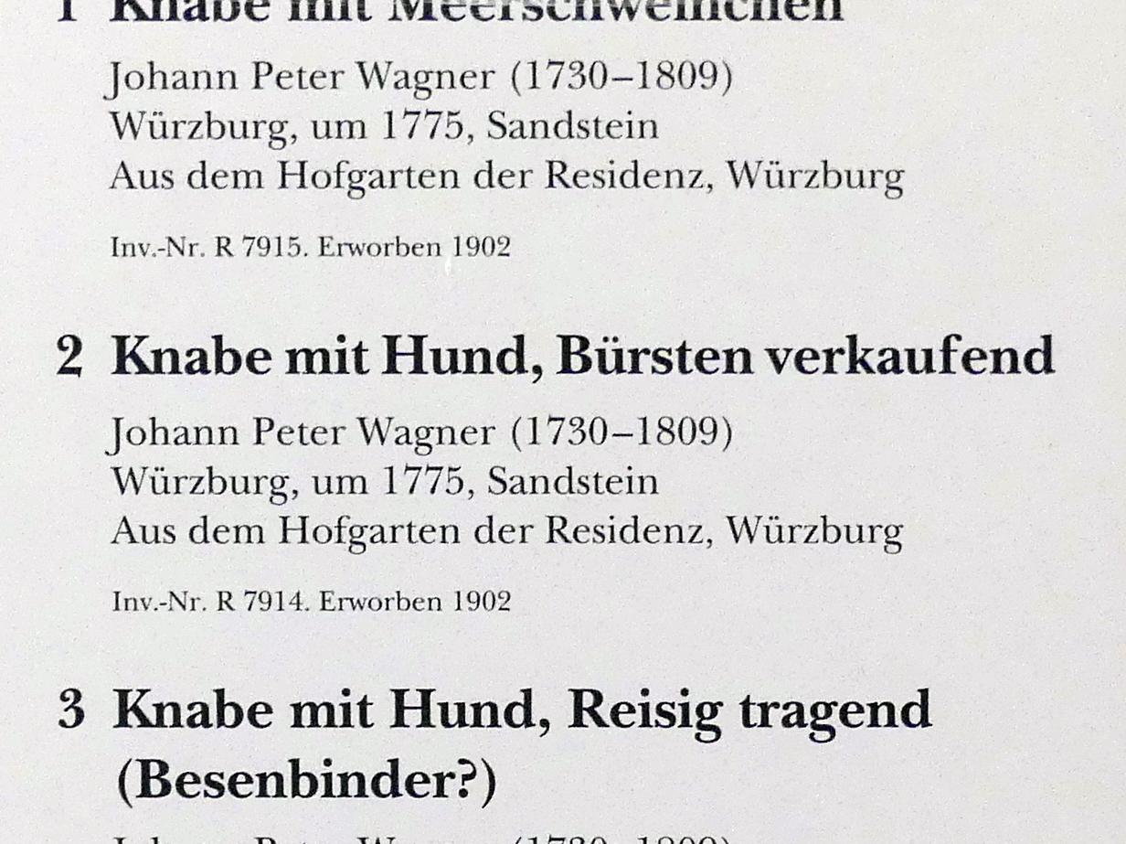 Johann Peter Wagner: Knabe mit Hund, Bürsten verkaufend, um 1775, Bild 4/4
